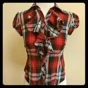 Bow and Arrow Mackinaw ruffled blouse